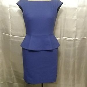 French Connection Blue Peplum Dress Size 0